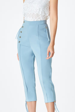 SS'18 High Waist Tapered Pants - Pastel Blue