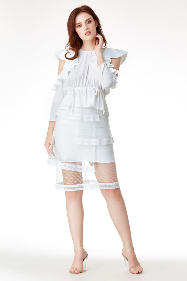 AW'18 Ruffle Top - White