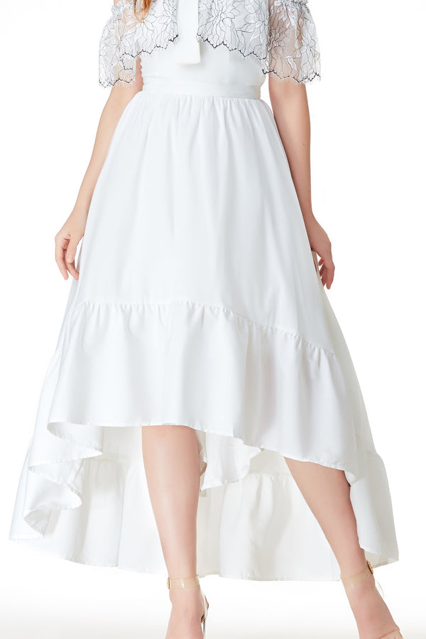AW'18 Ball Skirt - White