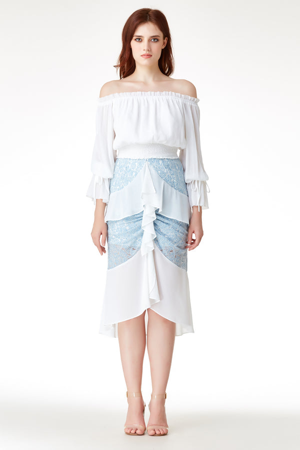 AW'18 Ruffle Mermaid Skirt - Blue
