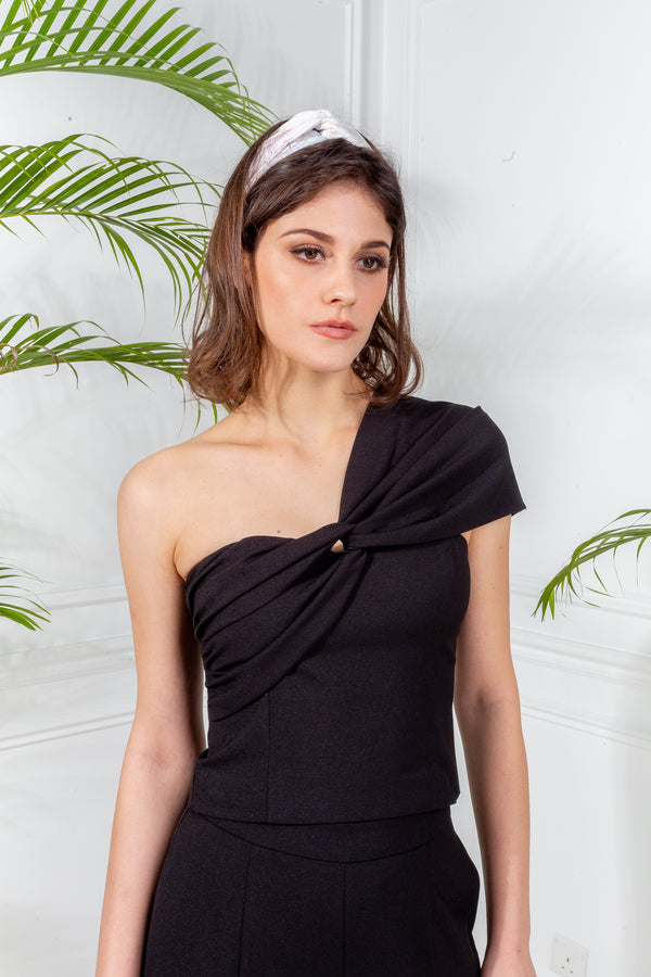 CAPSULE '19 One Shoulder Bustier - Black