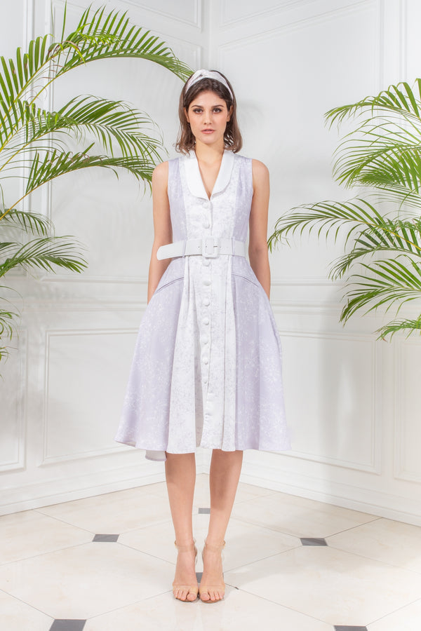CAPSULE '19 Flared Coat Dress - Lavender