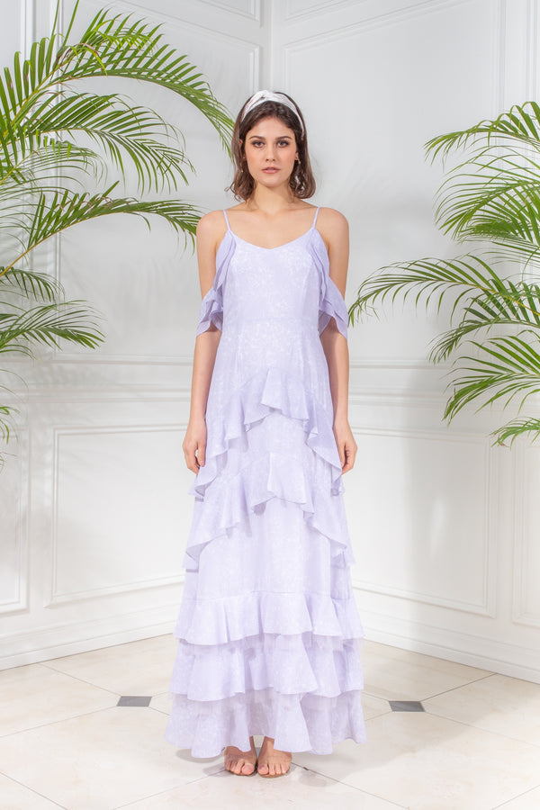 CAPSULE '19 Ruffled Tiered Maxi Dress - Lavender