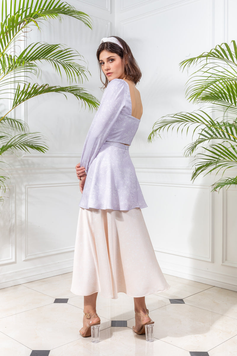 CAPSULE '19 Tiered Skirt - Lavender