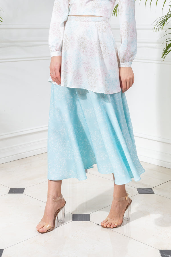 CAPSULE '19 Tiered Skirt - Turquoise