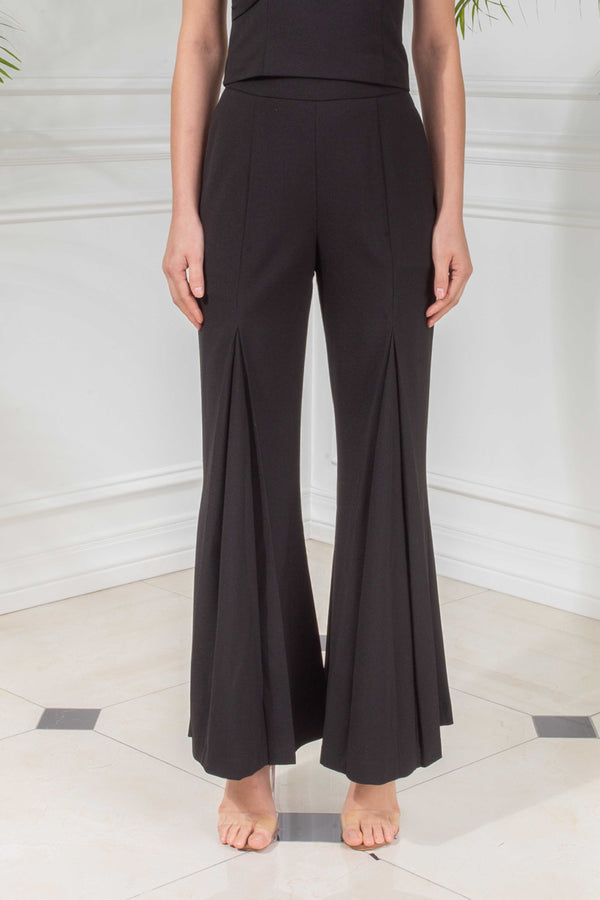 CAPSULE '19 Pleated Wide Leg Pants - Black
