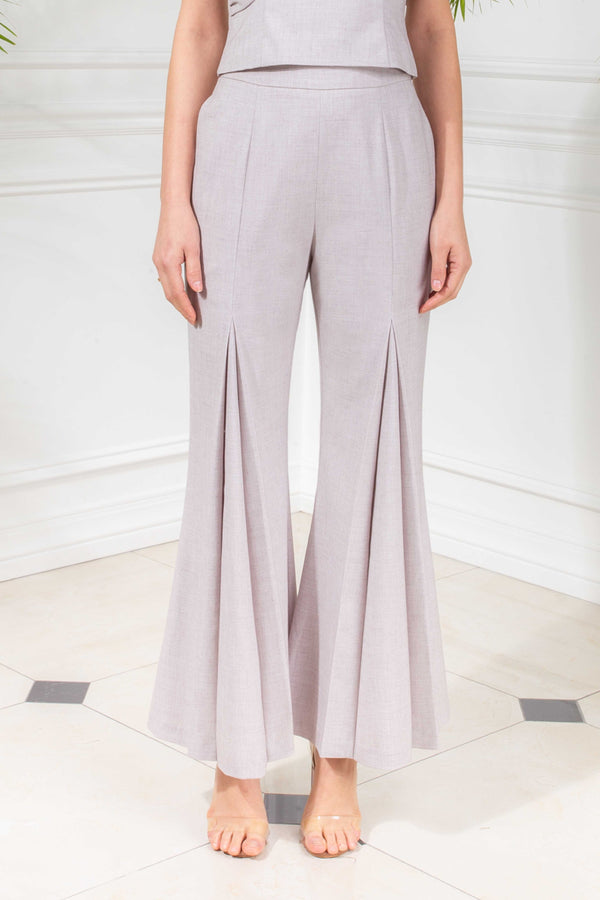 CAPSULE '19 Pleated Wide Leg Pants - Gray