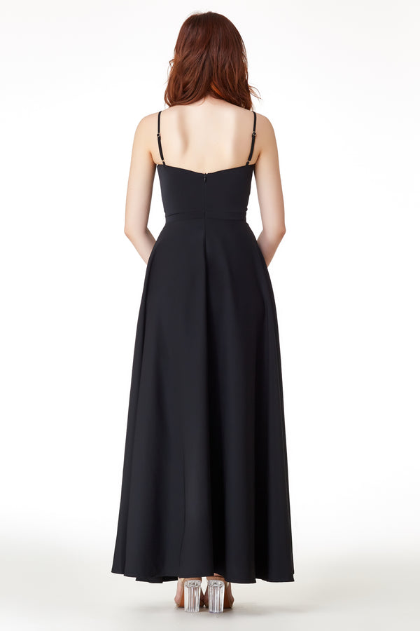 AW'18 Evening Slit Dress - Black