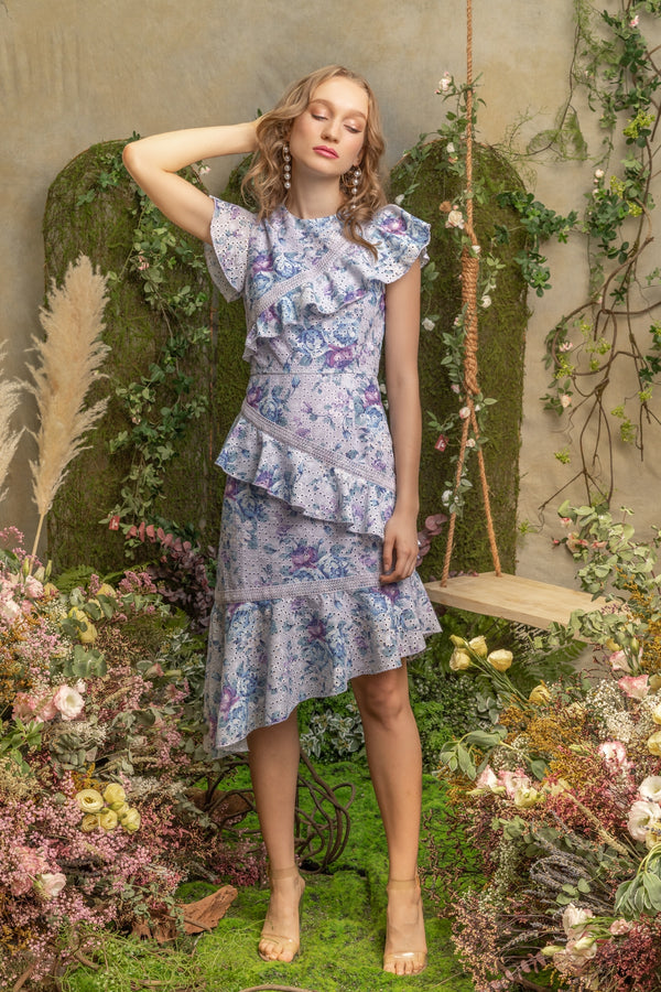 SS'19 Asymmetrical Dress - Purple Lilac
