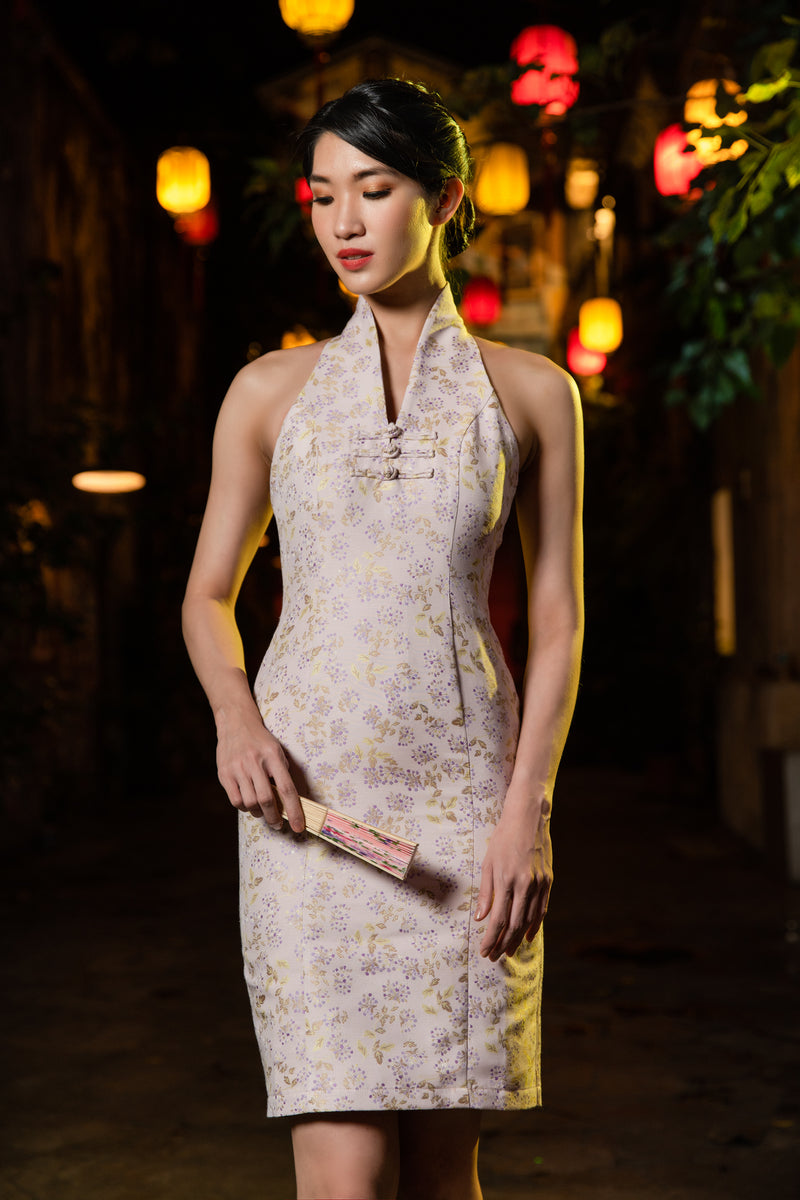 LNR'21 High neck sleeveless cheongsam - Pink