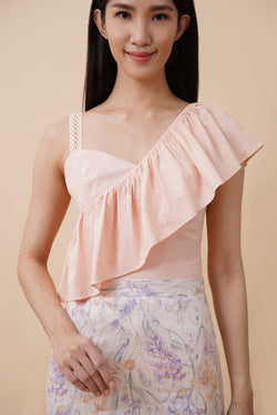 One Shoulder Top - Pink