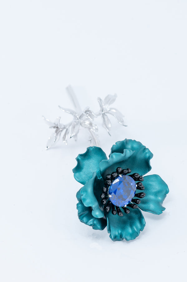 Flower Brooch - Paraiba