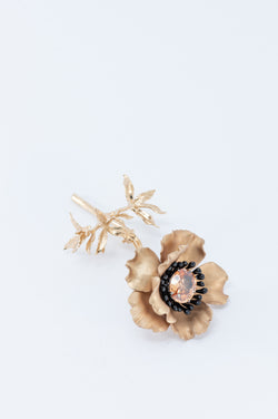 Flower Brooch - Gold