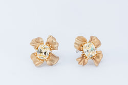 Flower Earrings - Gold