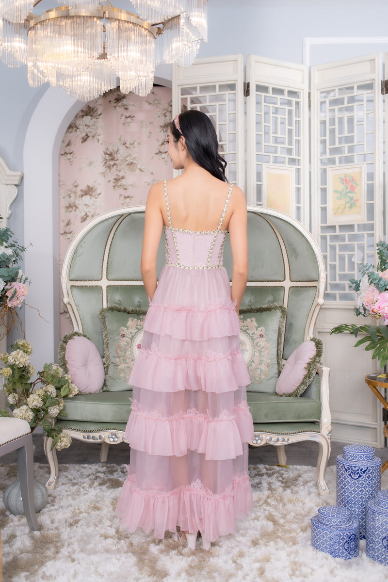 LNR'20 Bustier Maxi Dress - Pink