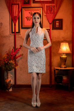 LNR'21 High neck sleeveless cheongsam - Beige
