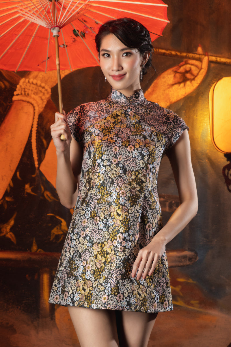 LNR'21 Mini Cheongsam - Blue