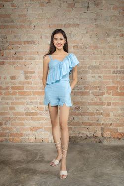 Resort'20 One Shoulder Top - Blue