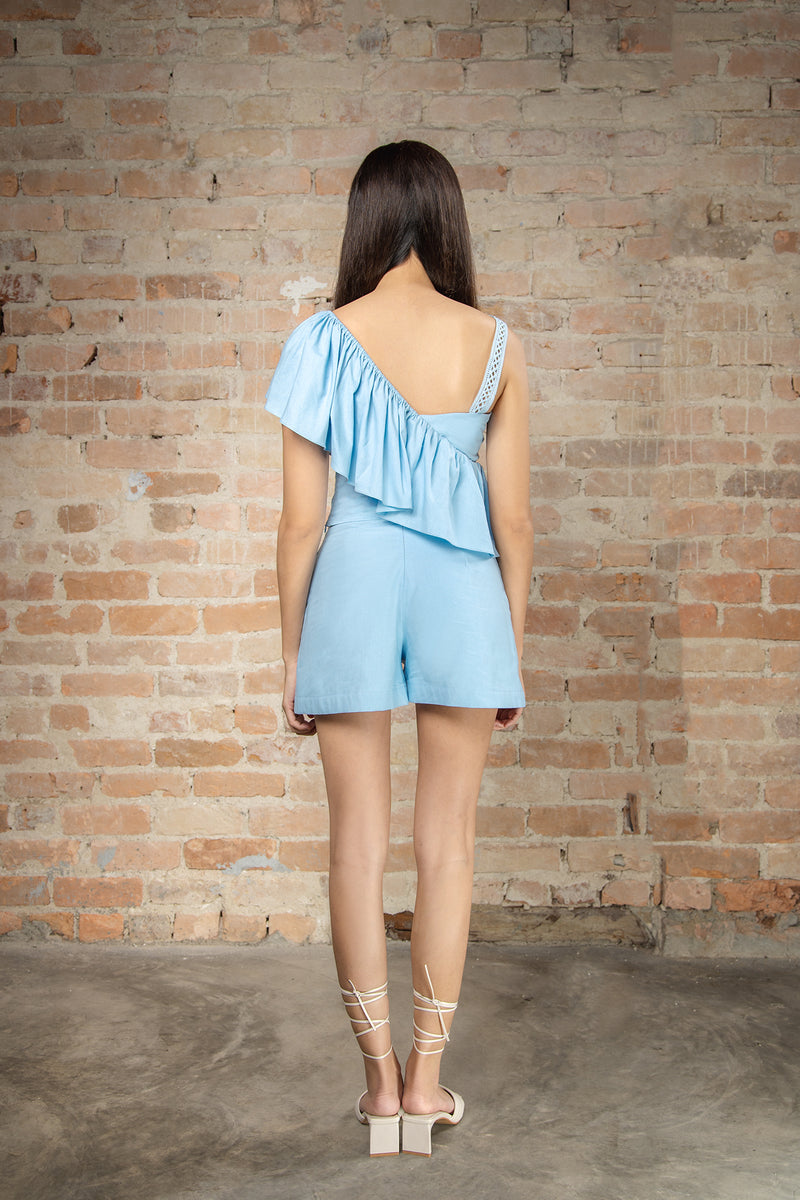 Resort'20 Front Slit Shorts - Blue