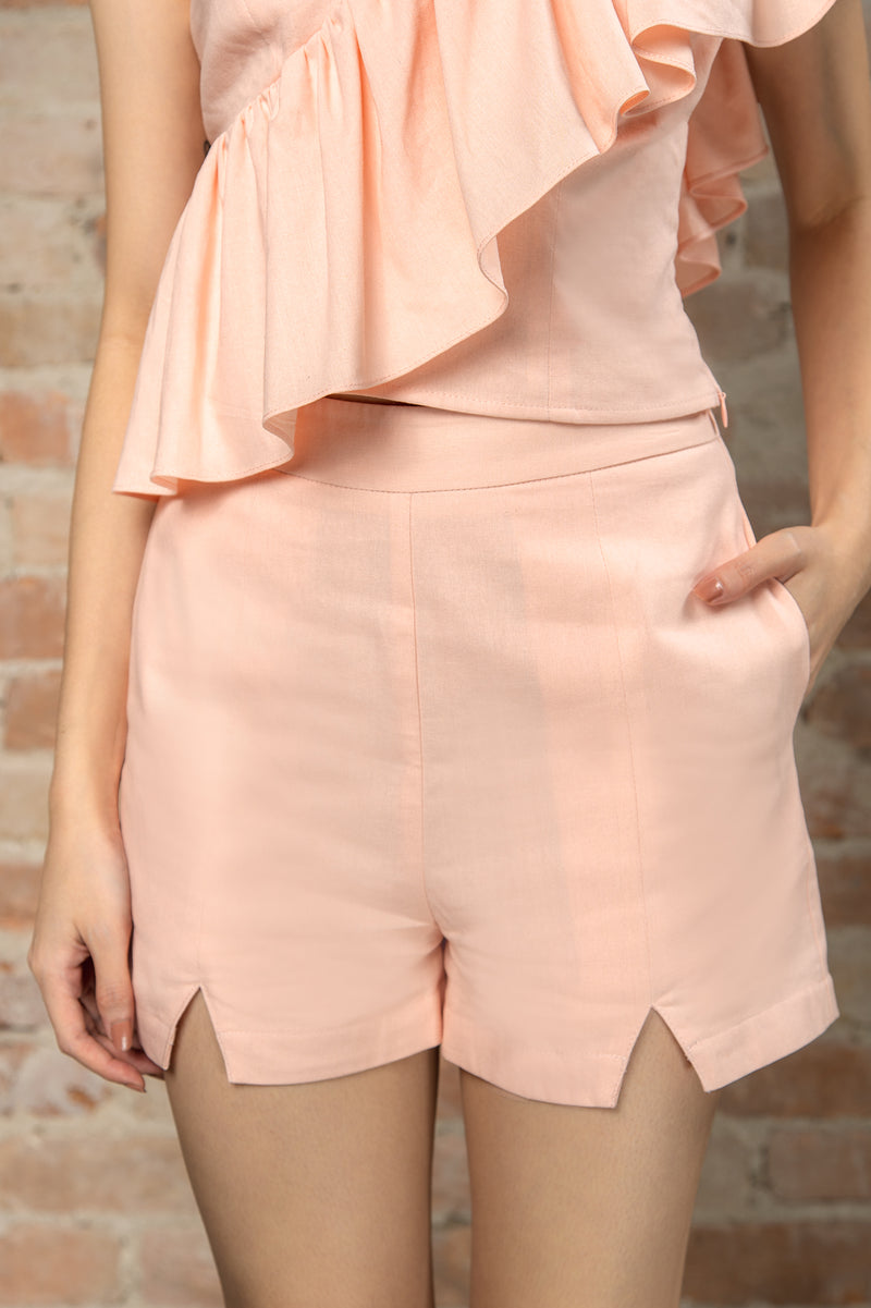 Resort'20 Front Slit Shorts - Pink