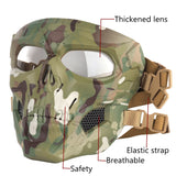 Tactical Paintball Skull Masks Outdoor Breathable Hunting Shooting Skull Mask Military Full Face Safety Airsoft Paintball Masks