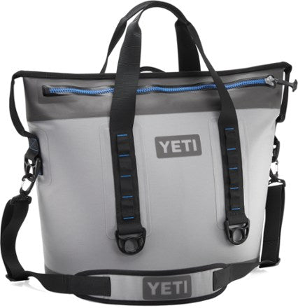 YETI Hopper Flip Fog Gray Tahoe Blue Cooler - 30