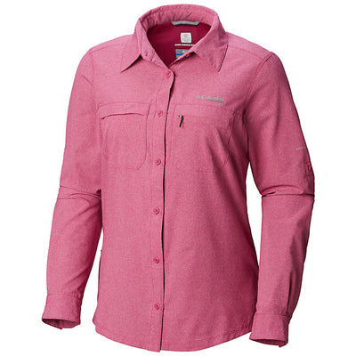 Columbia Irico Long Sleeve Womens Shirt Haute Pink Heather
