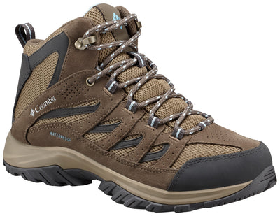 Columbia Crestwood Mid Waterproof Womens Hiking Shoes Pebble Oxygen