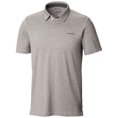 Columbia Tech Trail Mens Polo Shirt Cool Grey