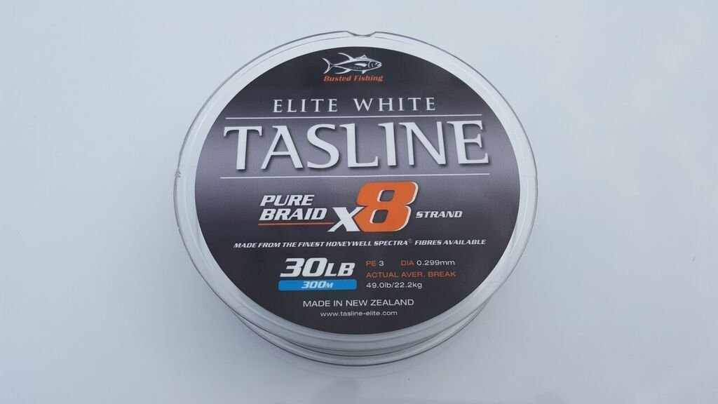 Tasline Elite White 300M Braided Fishing Line