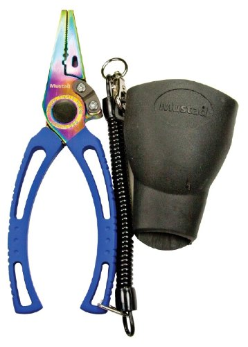 Mustad 7.5 Inch Pliers with Molded Rubber Sheath