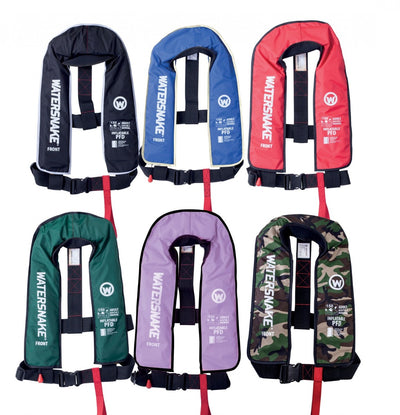 Watersnake Inflatable PFD Life Jacket Level 150 Adult Manual