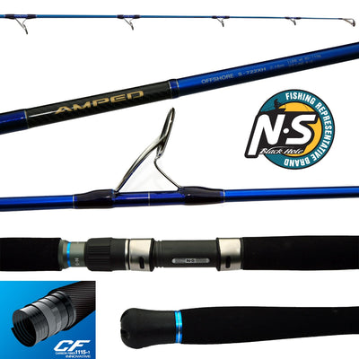NS Black Hole AMPED Offshore Spin Rod - S-702H