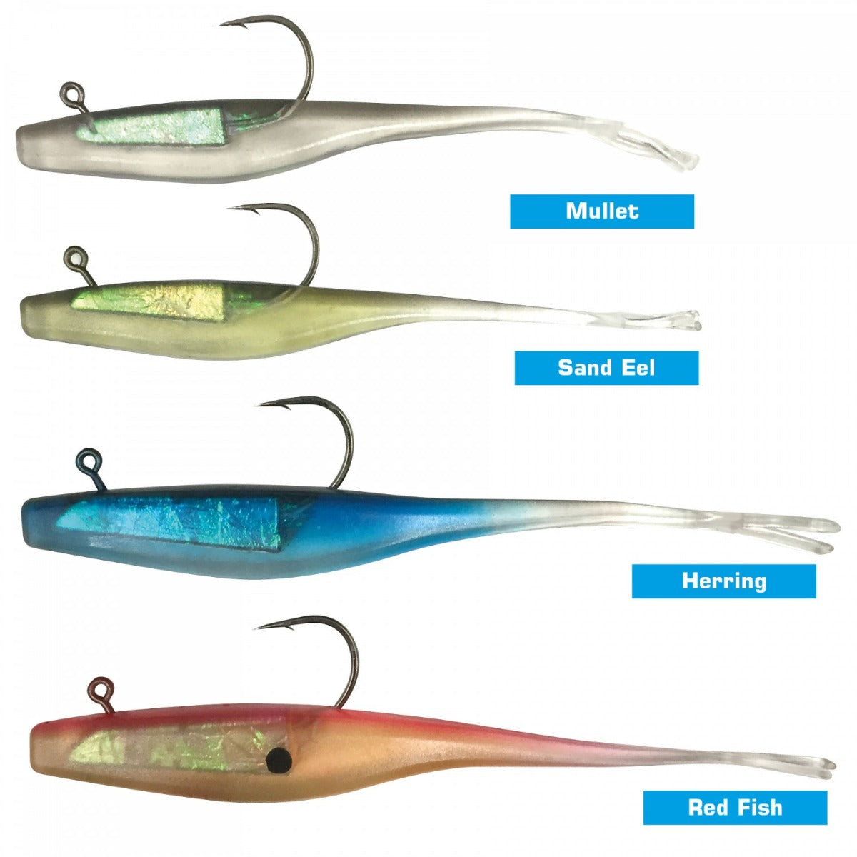 Jarvis Walker 5 Inch Split Tail Shad Rigged Soft Plastic Pack