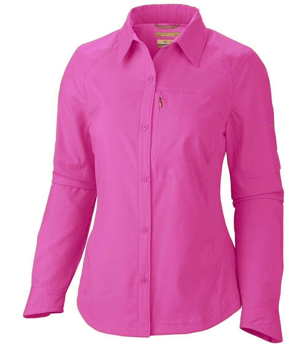 Columbia Silver Ridge Long Sleeve Womens Shirt Foxglove