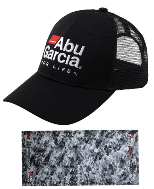 Abu Garcia Hat and Face Mask Protective Buff Set