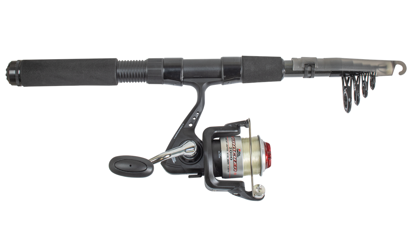 Abu Garcia Tracker Telescopic Travel Rod and Reel Combo with Travel Bag