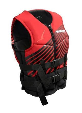 BLA Wakemaster Level 50 NEO Neoprene Life Jacket PFD2 Vest - Black Red