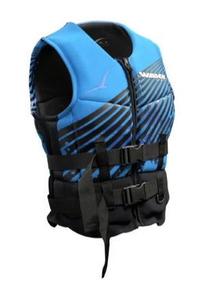 BLA Wakemaster Level 50S NEO Neoprene Life Jacket PFD3 Vest - Black Blue