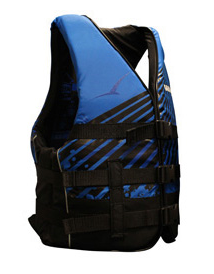 BLA Wakemaster Level 50S Nylon Life Jacket PFD3 Vest - Black Blue