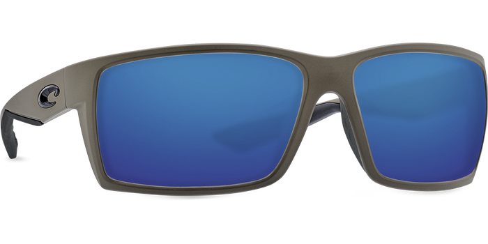 Costa Del Mar Reefton Matte Moss Frame Polarised Sunglasses - Blue Mirror 580G