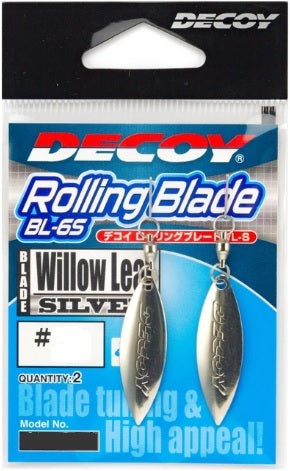 Decoy BL-6S Rolling Willow Leaf Blade Lure Silver