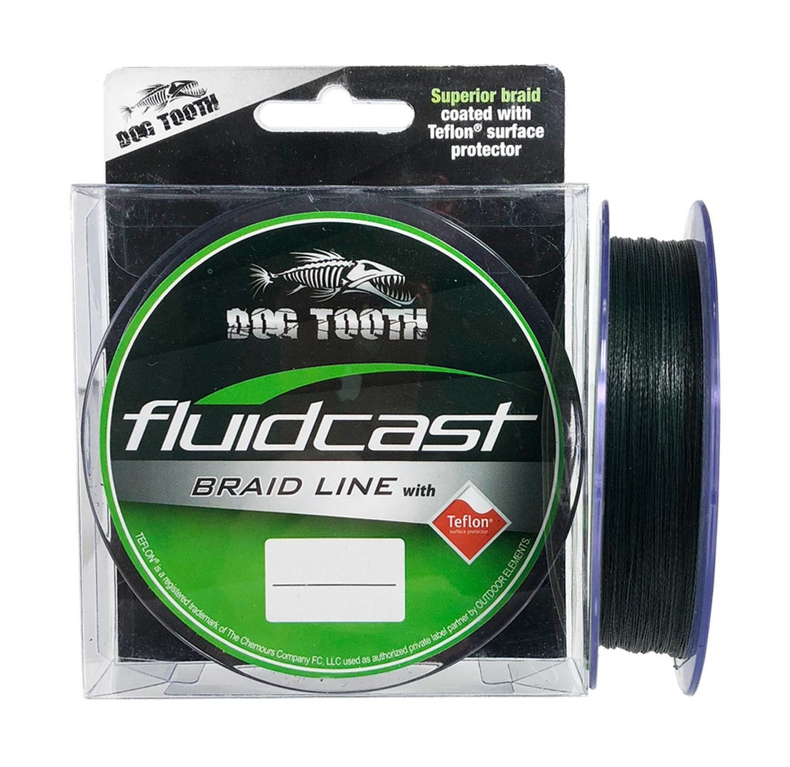 Dog Tooth Fluidcast 300m Green Braided Fishing Line