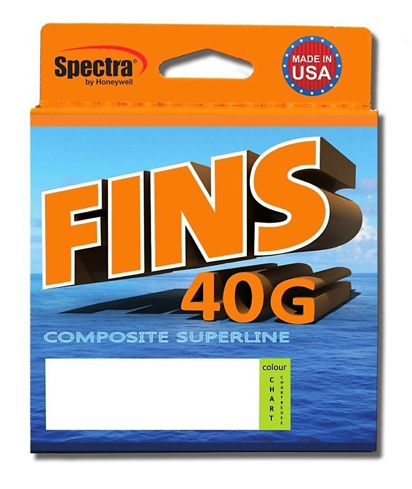 Fins 40G Chartreuse Braided Fishing Line - 300yd