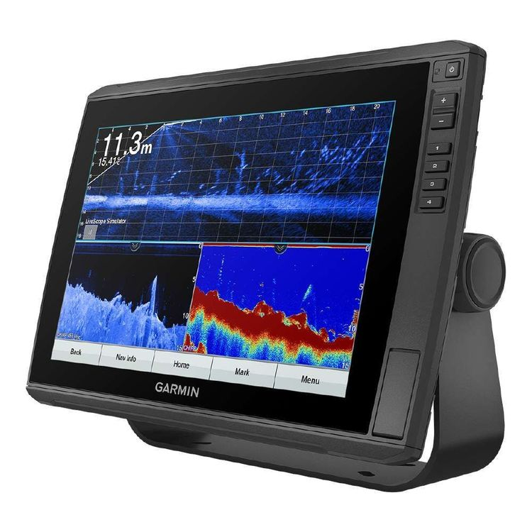 Garmin Echomap Ultra 125Sv GPS Chartplotter and Sonar Sounder Fishfinder with GT54UHD-TM Transducer