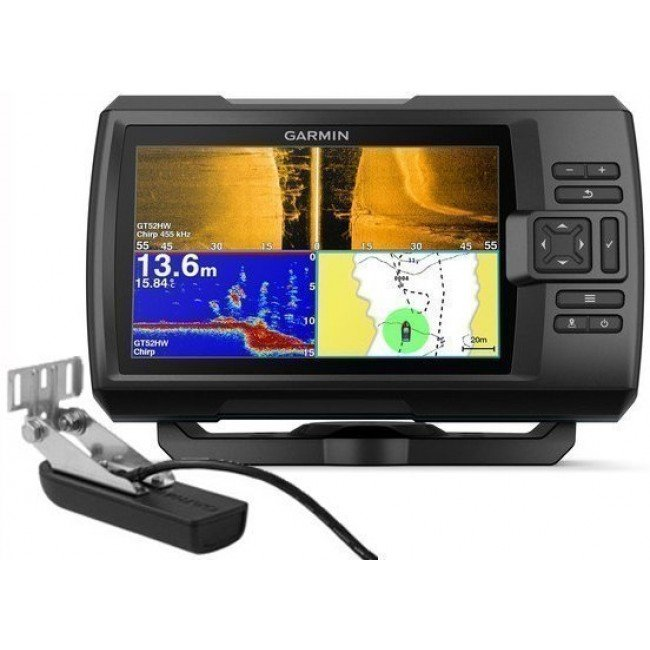 Garmin Striker Plus 7sv GPS and Sonar Sounder Fishfinder with GT52HW-TM Transducer 010-01874-01