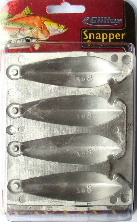 Gillies Snapper Sinker Mould - 8 oz