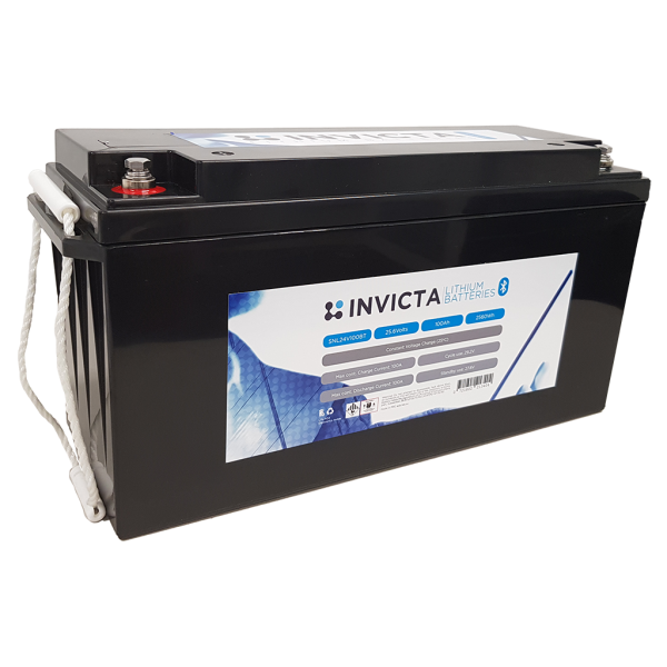 Invicta 100AH 24V Volt Blueooth Ultra Power Lithium Battery - 111180