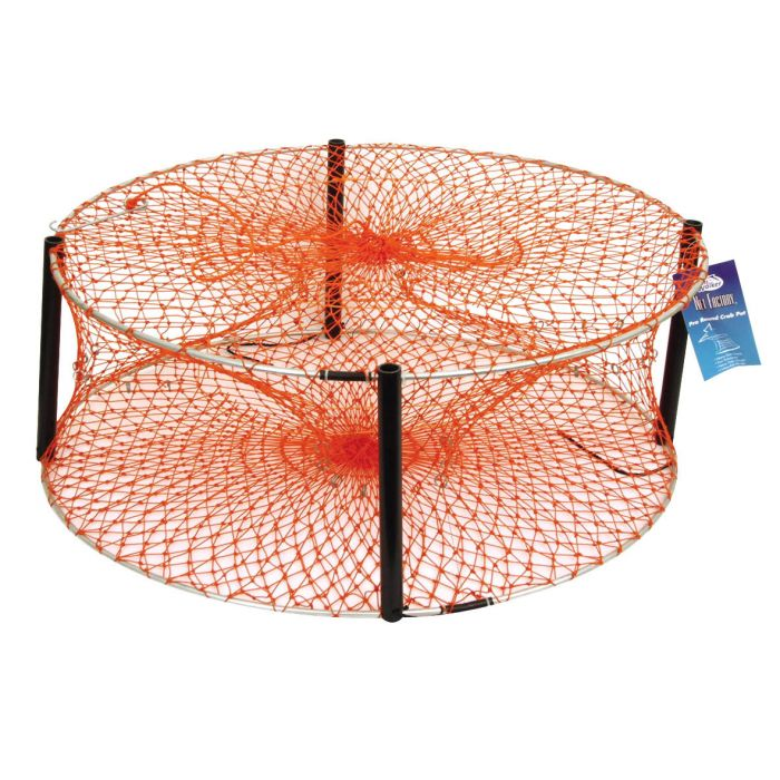 Jarvis Walker Round Orange Heavy Duty Crab Pot