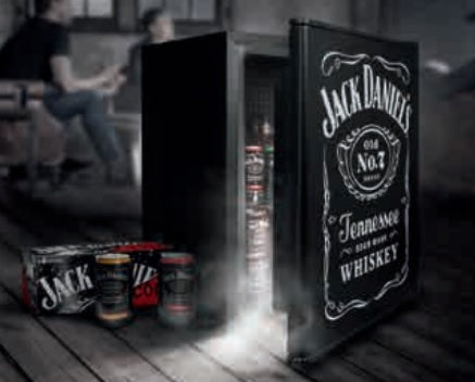Jack Daniels Bar Fridge - Black